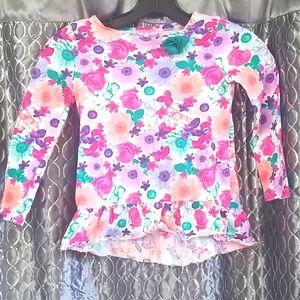 Girls Floral Print Top